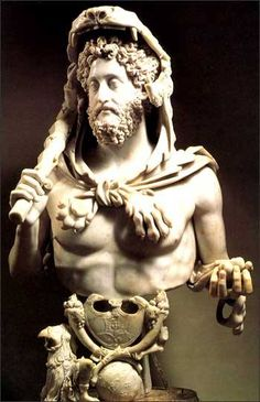 Bust of the Roman Emperor Commodus Portraying Himself as Hercules