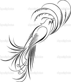 calligraphy fly bird vector art silhouettes beauty pinterest
