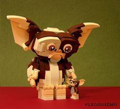Ziegel gebautes Gizmo & Minifigur Gizmo - New Ideas Lego Film, Bloc Lego, Lego Videos, Lego Display, Lego Sculptures, Lego Animals, Amazing Lego Creations, Lego Minecraft, Minecraft Ideas