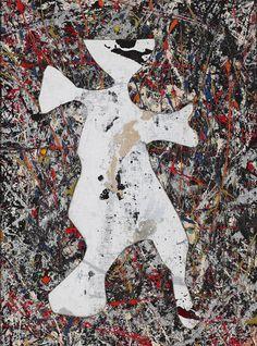 (モダンアートの無 十選)ジャクソン・ポロック「カット・アウト」 美術評論家 沢山遼 :日本経済新聞