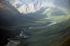 Gates of the Arctic National Park, Alaska.Remote valley in Brooks Range, somewhere between Coldfoot and Anaktuvak Pass, Alaska. Alaska Travel, Travel Usa, Alaska Trip, Visit Alaska, Arctic Circle, Us National Parks, Fauna, Adventure Is Out There, The Great Outdoors
