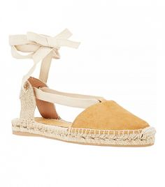 Nude espadrilles / The Best Lace-Up Flats for Girls With Muscular Legs via @WhoWhatWear