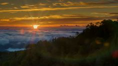 Tilting Up to the Sunrise over the Cloud Covered Smoky Mountains #WNC #Asheville!