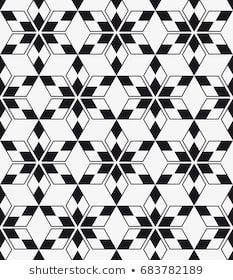 Repeating geometric tiles with a grid of rhombuses. Geometric Tattoo Filler, Geometric Mandala Tattoo, Geometric Drawing, Geometry Tattoo, Mandala Tattoo Design, Geometric Patterns, Geometric Tiles, Graphic Patterns, Vector Pattern