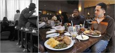 Tnen and Now: The lunch counter at the original Paschal's, (L), a hub of the civil rights movement that continued to be central to black politics, and today's version of the restaurant. The soul food has not changed. Alan S. Weine (L); (R), Erik S. Lesser, both of the New York Times.