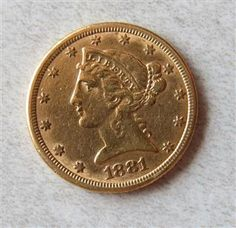 1881 Liberty Head 5 Dollar Half Eagle Gold US Coin Featured in our upcoming auction on June 14!