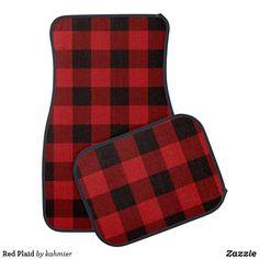 Red Plaid Car Floor Mat Car Mats, Car Floor Mats, Red Gifts, Plaid Pattern, Buffalo Plaid, Red Plaid, Rustic Style, Diy, Classic