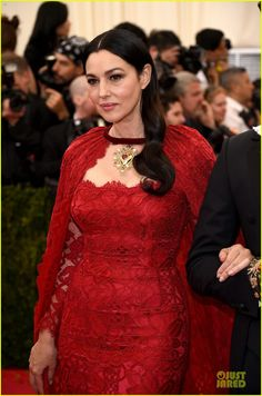 Monica Bellucci at the 2014 Met Gala held at the Metropolitan Museum of Art on Monday (May 5) in New York City.