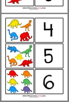 Dinosaur Preschool Printables Make a felt board with 10 numbers. Dinosaur Theme Preschool, Dinosaur Printables, Dinosaur Activities, Numbers Preschool, Dinosaur Crafts, Preschool Learning Activities, Free Preschool, Preschool Printables, Preschool Lessons