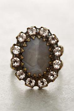 Elliptic Crystal Cocktail Ring