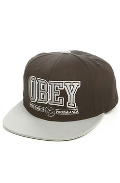 83025301e73 Hats · Obey Snapback Athletics Black  Karmaloop Streetwear Fashion