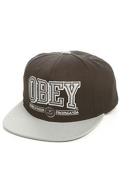 Obey Snapback Athletics Black: Karmaloop