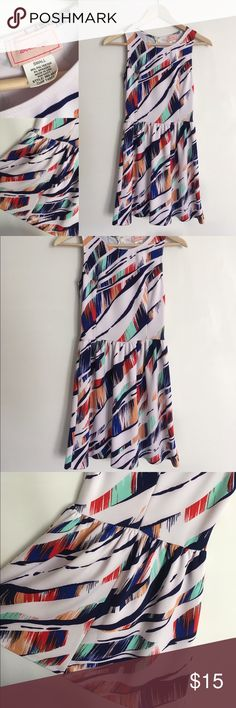 Nordstrom Rack Multicolor Dress Size S This skater style dress is perfect for day or evening. Only worn once! Excellent condition. Originally from Nordstrom Rack. Women's size Small. Nordstrom Dresses Mini