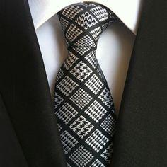 Mantieqingway Fashion Men's Polyester Necktie Floral Gravata for Mens Business Vestidos Cravat Bridegroom Plaid Stylish Neck Tie