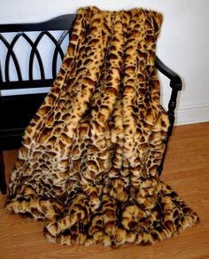 Faux Fur Throw Stunning Leopard Faux Fur by CindyHeitkampDesigns