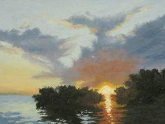 Between The Mangroves ll - Key West by B. Kay Gerehart Oil ~ 9 x 12