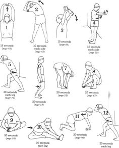 Warm up and cool down exercises.