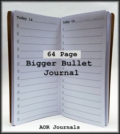 Midori Insert 64 page Bigger Bullet List Insert for Midori or Fauxdori Travelers Notebook Covers 9 Travelers Notebook Sizes 40 Cover Colors by AORJournals from AOR Journals by Ann. Find it now at http://ift.tt/2lLVk0I!