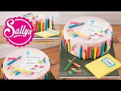 School cake / motif cake at the beginning of school sally shows a few tri … - Schulanfang Back To School Party, 1st Day Of School, Beginning Of School, School Enrollment, Pie Decoration, Birthday Candles, Birthday Cake, School Cake, Sugar Bread