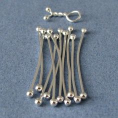 Handmade Findings, Twist n Wrap Link Connectors, Fine Silver, 22g - 30 pieces via Etsy -- Rocki's Metalwork