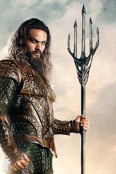 Jason Momoa as Aquaman. More