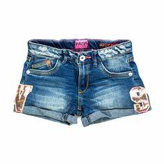 a0fdf7a97bc5 Vingino - Shorts Denim Con Patch Bambina Teen Frizzanti shorts con  applicazioni paillettes firmati Vingino Girl