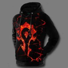 WOW World of Warcraft horde hoodie for men