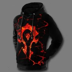 WOW World of Warcraft horde hoodie for men