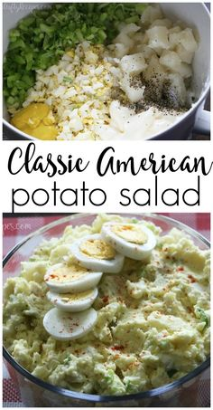 Mmm my favorite classic american potato salad recipe! Winner for parties and BBQs