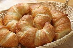 Croissants From Scratch   A pale golden color and a uniform puff lure unsuspecting buyers to second-rate croissants. This disguise simulates the classic good looks of the famous flaky French pastry. The smell of lightly salted butter and fresh yeast encases a real, handmade croissant like an alluring halo of authenticity. Its color ranges from warm brown to a [�]
