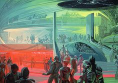 Concept art by Syd Mead