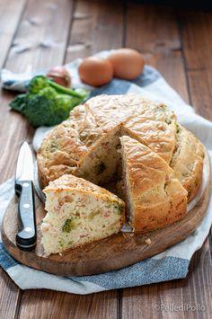 Soffice e gustosa #tortasalata con solo #albumi nell'impasto. #ricette #broccoli #rustico #antipastisfiziosi #createtoinspire