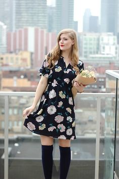 Get this look: http://lb.nu/look/8669095  More looks by Sydney Hoffman: http://lb.nu/user/159491-Sydney-H  Items in this look:  Loft Floral Dress   #chic #classic #romantic #florals #floraldress #flowers