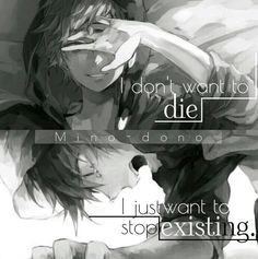 The name says it all anime quotes. This book is complete and is now a second one called Anime quotes 2 so check it out when your done (These are found online) if you like check out my other books Sad Anime Quotes, Manga Quotes, Creepypasta Quotes, Dark Quotes, Les Sentiments, Depression Quotes, How I Feel, True Quotes, Feelings