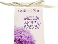 """Blumensamen  """"Gießen, wachsen, freuen! Als Zeichen unserer Freundschaft und Dankbarkeit! Wir freuen uns, dass du diesen Tag mit uns verbringst!"""""""