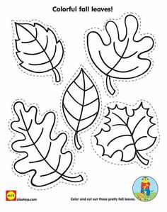 Cut And Color Fall Leaves With Our Free Kids Fall Activity