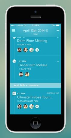 iPhone App - Agenda Screen by Eric Hoffman for JellyJar Co: