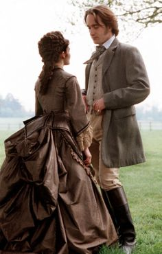 Shirley Henderson as Marie Melmotte and Matthew Macfadyen as Sir Felix Carbury in The Way We Live Now (TV Mini-Series, 2001).