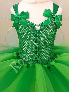 4055cad12 Tinkerbell Fairy inspired tutu dress costume & Fairy dress up
