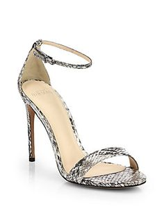 Alexandre Birman Python Ankle-Strap Sandals