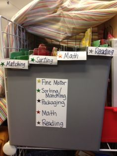 Miss Allison's Class: Classroom Organization and Storage:  color coding for different types of work