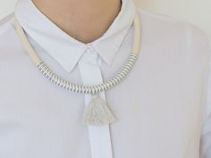 #rope #ropenecklace #silvernecklace #metallic #metallicnecklace #handmade #jewelry #etsy #seller #striped #design #photo #photography #happymakers #slovakia #sisters #two Rope Necklace, Metal Necklaces, Pearl Necklace, Handmade Jewelry, Unique Jewelry, Handmade Gifts, Etsy Seller, Sisters, Metallic