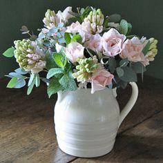 fragrant arrangement with flowers and garden herbs x