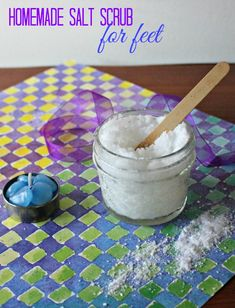 My feet need pampering before I feel confident enough to slip on sandals. This homemade salt scrub for feet will help me get my feet sandal ready.