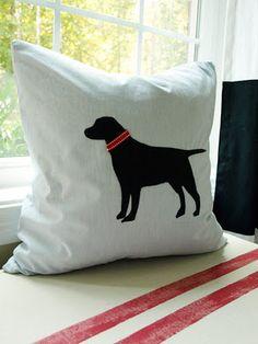 DIY dog silhouette pillow