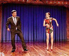 Emma Watson dancing with Jimmy Fallon gifs - PandaWhale