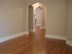 """Benjamin Moore Sail Cloth (or Sailcloth) Paint Color / Minwax """"Special Walnut"""" floor stain"""