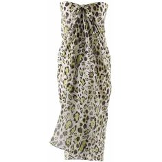 Lime Green Leopard Print Long Pareo Sarong Wrap ($13) ❤ liked on Polyvore featuring swimwear, cover-ups, lime green, sarong wraps, leopard sarong, long-sleeve swimwear, wrap sarong, lime green swimwear and sarong swimwear