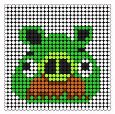 Moustache Pig Perler Bead Pattern   Bead Sprites   Characters Fuse Bead Patterns