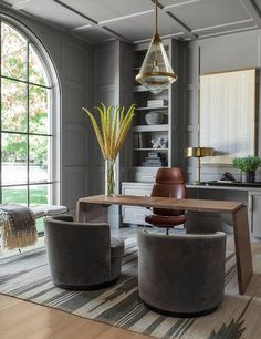 "Gray, a color often associated with motionlessness and dullness, has fast grown in popularity amongst stylists. In fact, Pantone has selected ""Sharkskin"" as a gray color trend for this season.  #interiordesign #homedecor #luxuryinteriors #contemporarydesign http://bocadolobo.com/blog"